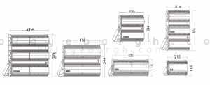 ابعاد پروژکتور ال ای دی آتریا پارس شعاع توس